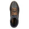 Ocieplane skórzane trampki za kostkę bata, szary, 896-2651 - 19