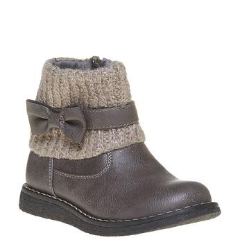 Dziecięce buty z lamówką z dzianiny mini-b, szary, 291-2154 - 13