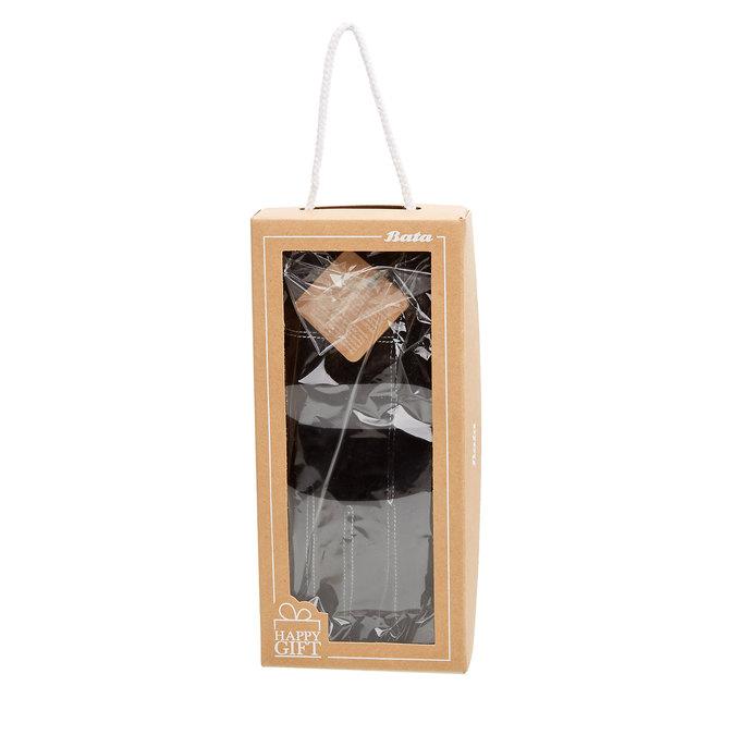 Skórzane damskie rękawiczki w pudełku upominkowym bata, czarny, 903-6102 - 26