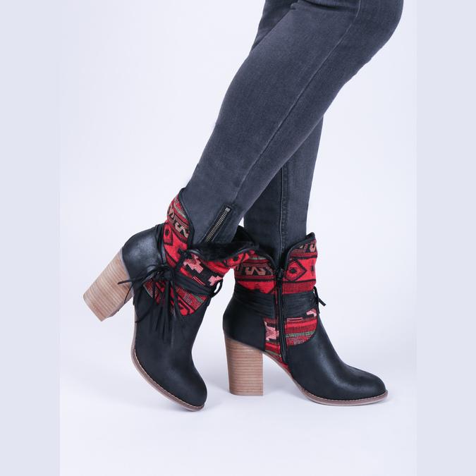 Ocieplane botki w stylu kowbojskim bata, czarny, 699-6603 - 14