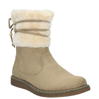 Dziecięce buty zimowe z futerkiem mini-b, żółty, 399-8247 - 13