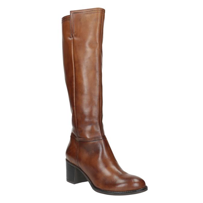 Kozaki damskie ze skóry bata, brązowy, 694-3361 - 13