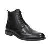 Skórzane buty za kostkę, ze zdobieniami brogue vagabond, czarny, 894-6003 - 13