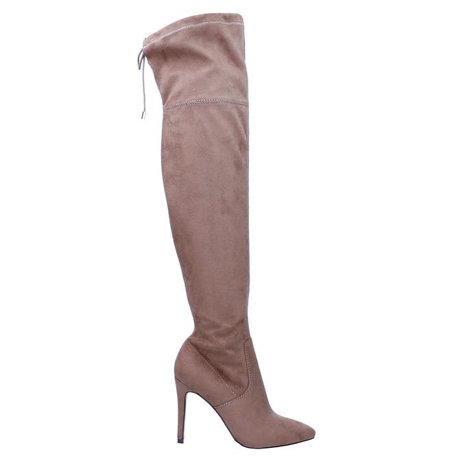 Kozaki damskie nad kolana bata, brązowy, 799-3600 - 15