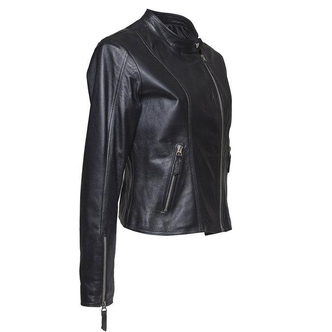 Skórzana kurtka damska bata, czarny, 974-6145 - 16
