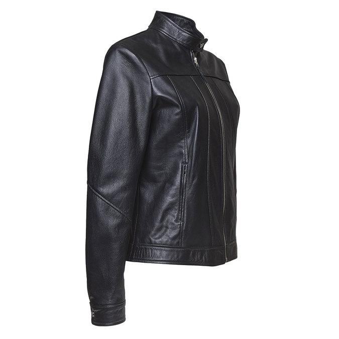 Skórzana kurtka damska bata, czarny, 974-6146 - 16