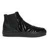 Skórzane botki z deseniem zwierzęcym bata, czarny, 546-6601 - 15