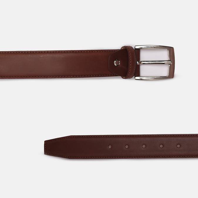 Brązowy skórzany pasek męski bata, brązowy, 954-3170 - 26