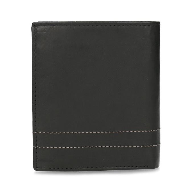 Skórzany portfel z przeszyciami bata, brązowy, 944-6148 - 16