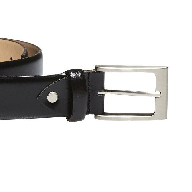 Klasyczny skórzany pasek bata, czarny, 954-6819 - 26