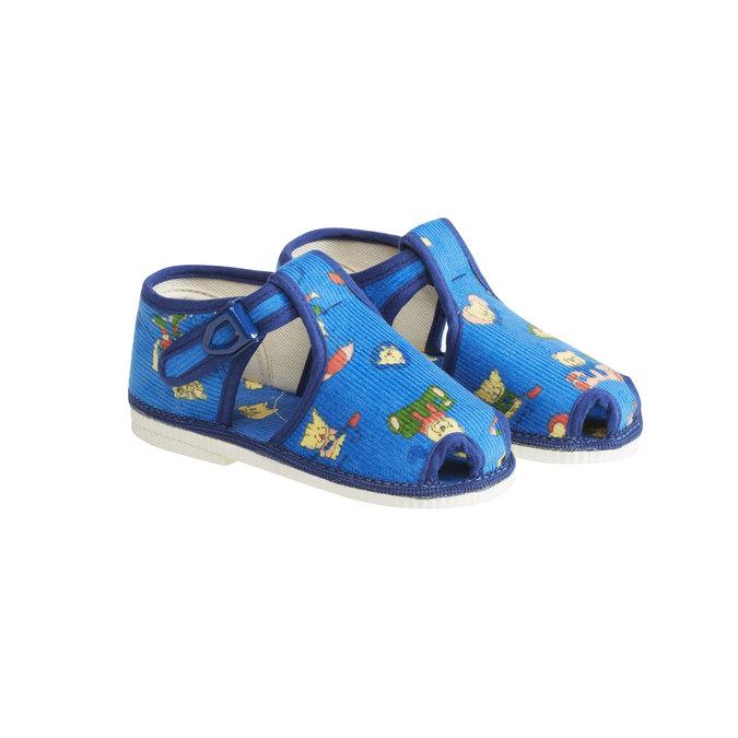 Kapcie dziecięce do kostki bata, niebieski, 179-9210 - 26