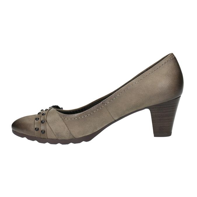 Czółenka damskie ze skóry bata, brązowy, 626-2600 - 26
