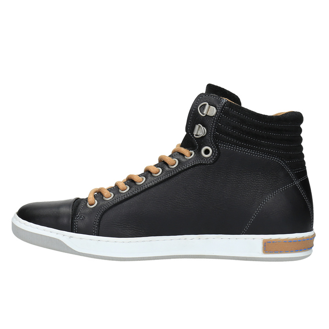 Trampki męskie za kostkę bata, czarny, 844-6625 - 26