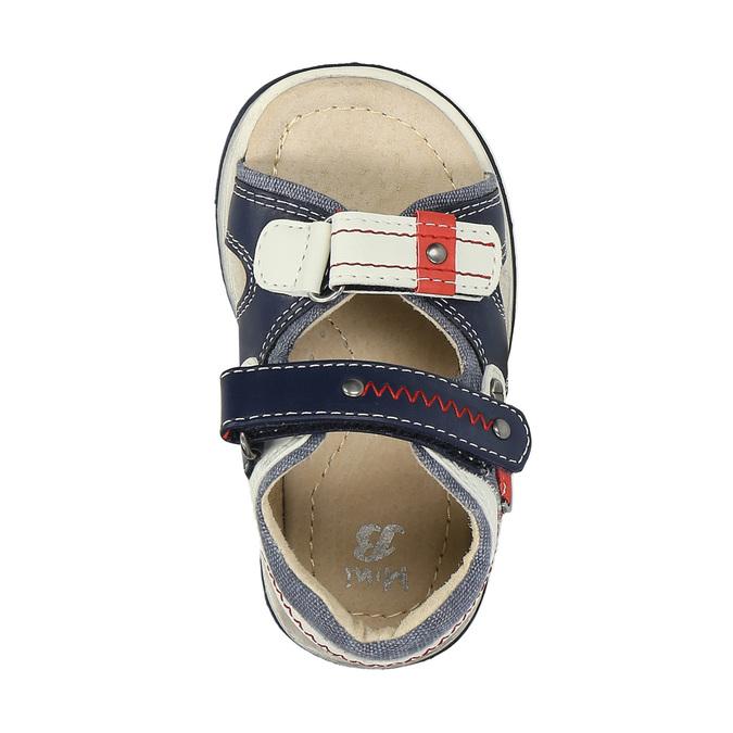 Sandały dziecięce mini-b, niebieski, 161-9100 - 19