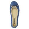 Skórzane baleriny na co dzień weinbrenner, niebieski, 526-9503 - 19