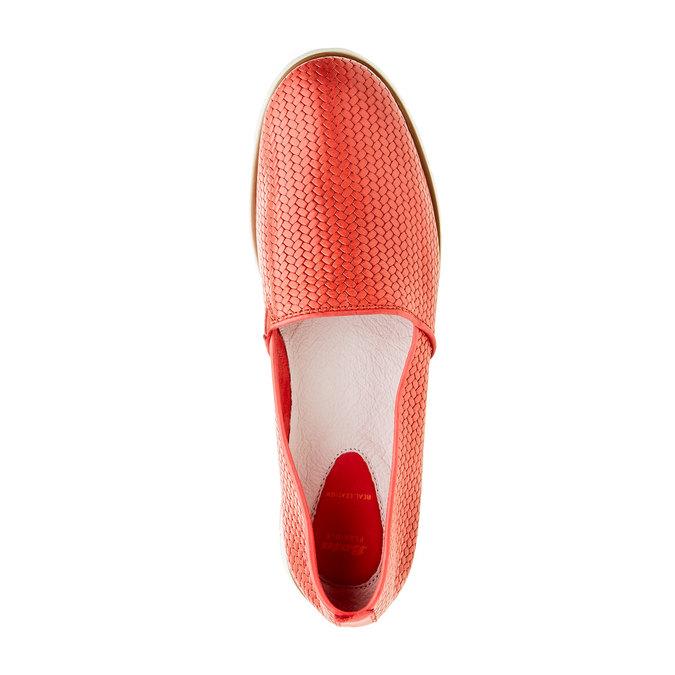 Damskie buty Slip on z plecionym wzorem flexible, czerwony, 515-5203 - 19