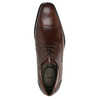 Męskie skórzane półbuty bata, brązowy, 824-4722 - 19
