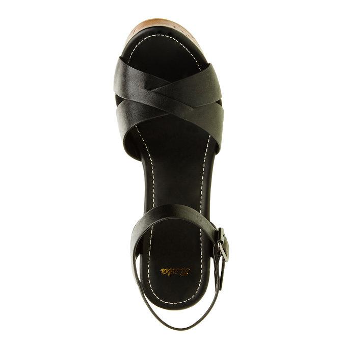 Sandały na masywnym obcasie bata, czarny, 761-6500 - 19