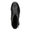 Zimowe skórzane buty damskie bata, czarny, 594-6347 - 19