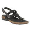 Damskie skórzane sandały weinbrenner, czarny, 566-6101 - 13