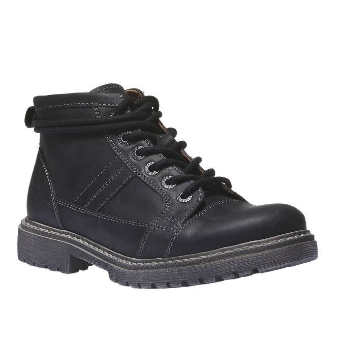 Skórzane buty z oryginalnymi sznurówkami weinbrenner, czarny, 594-6409 - 13