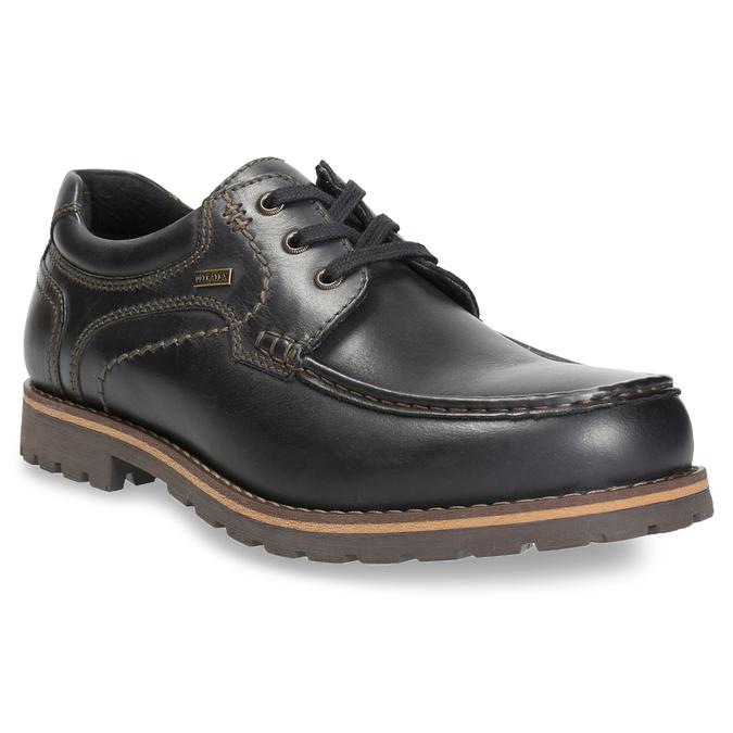 Skórzane półbuty z przeszyciami na nosku bata, brązowy, 826-6640 - 13