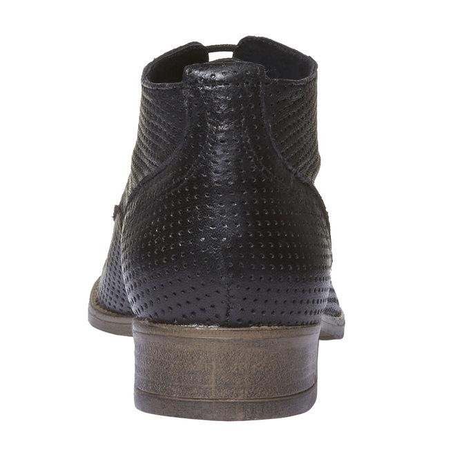 Damskie skórzane botki bata, czarny, 524-6468 - 17