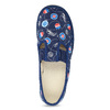 Granatowe wzorzyste kapcie dziecięce bata, niebieski, 379-9012 - 17