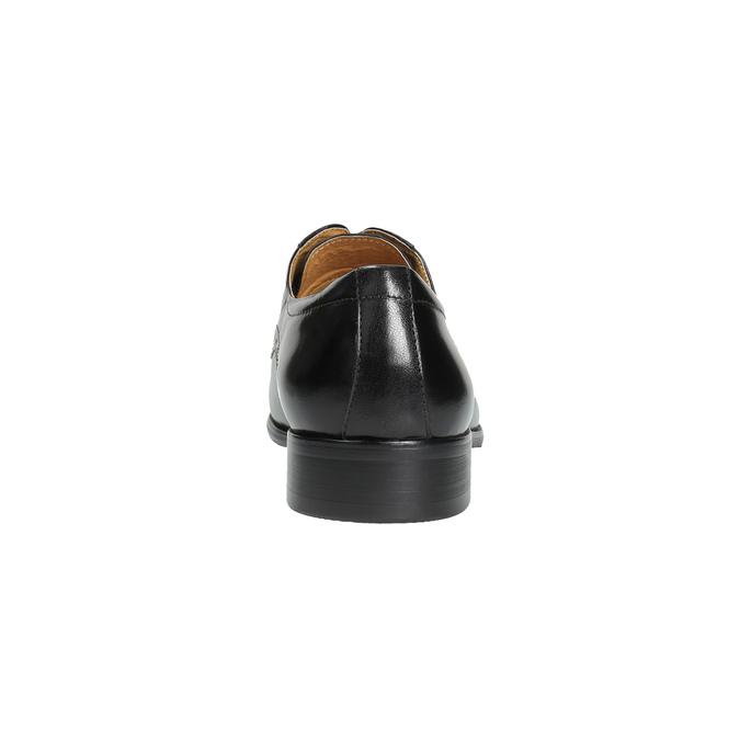 Męskie półbuty ze skóry, ze zdobieniami bata, czarny, 824-6640 - 17