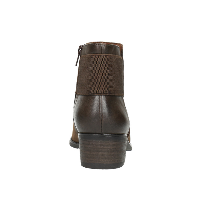 Botki damskie bata, brązowy, 696-4605 - 17
