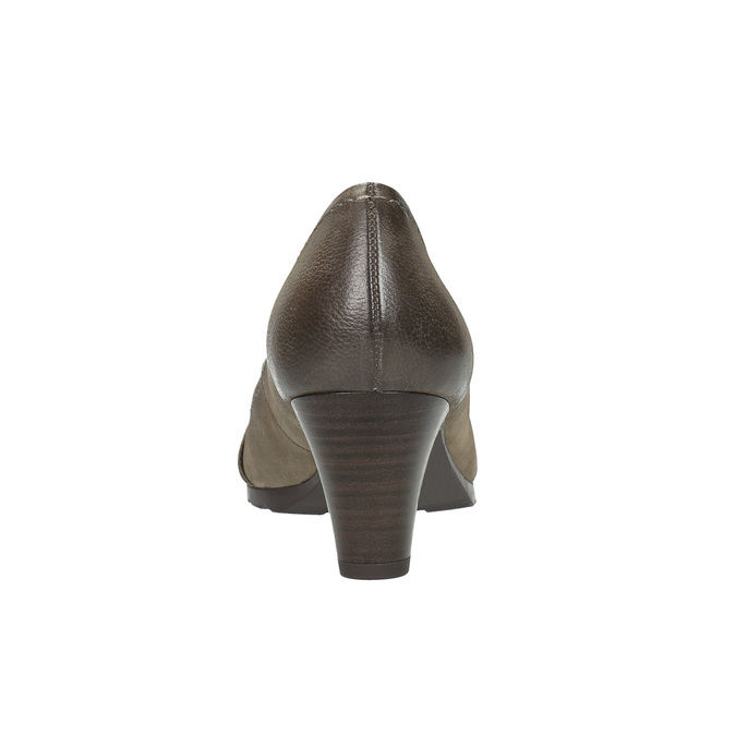 Czółenka damskie ze skóry bata, brązowy, 626-2600 - 17