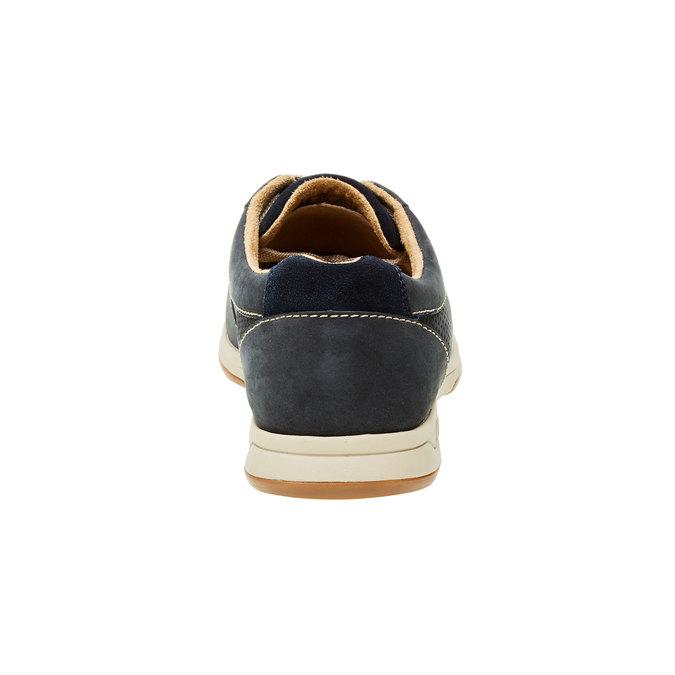 Męskie buty z zamszu clarks, niebieski, 826-9006 - 17