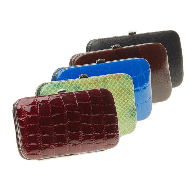 Zestaw do manicure w skórzanym etui bata, multi color, 944-0322 - 13