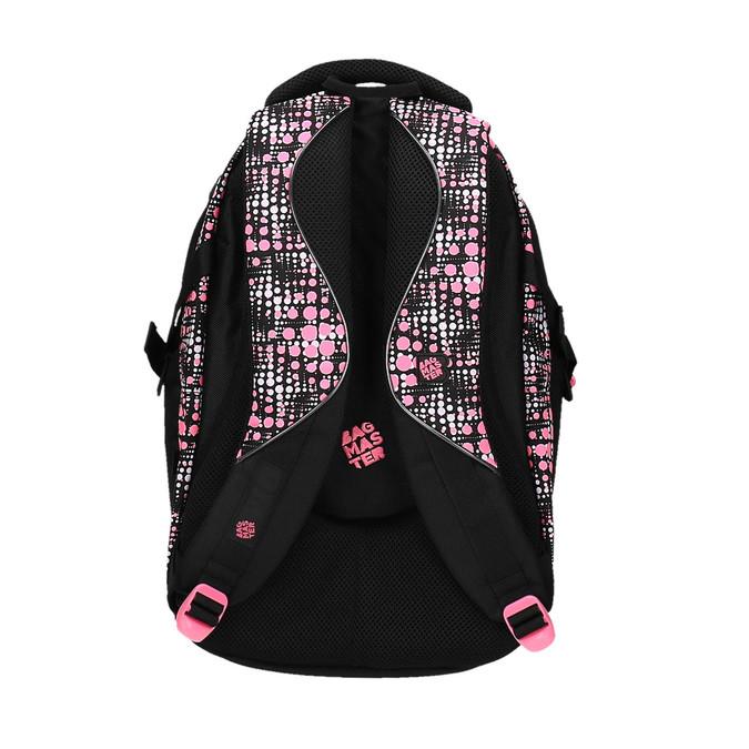 Dziewczęcy szkolny plecak z nadrukiem bagmaster, czarny, 969-5615 - 26