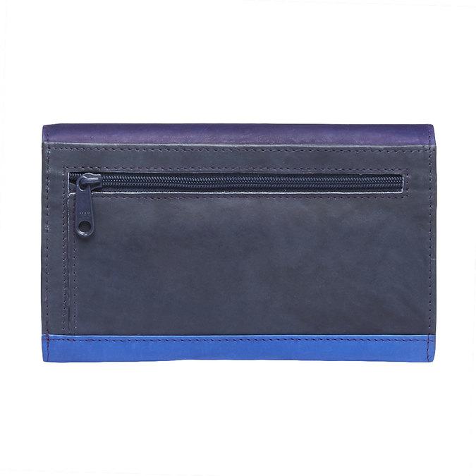 Damski skórzany portfel bata, niebieski, fioletowy, 944-9156 - 26