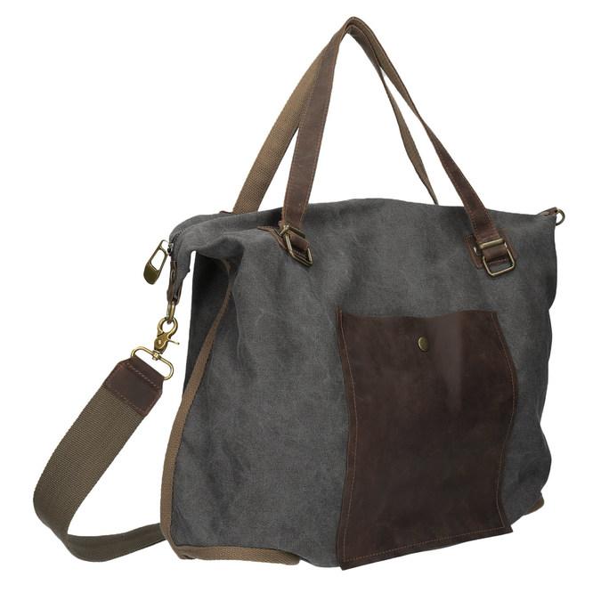 Duża torba z paskiem weinbrenner, szary, 969-2620 - 13