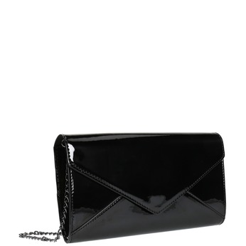 Czarna lakierowana kopertówka damska bata, czarny, 961-6624 - 13
