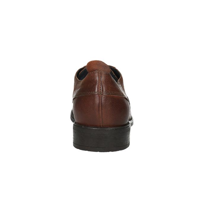 Skórzane półbuty męskie onieformalnym stylu bata, brązowy, 826-4732 - 17
