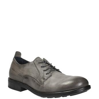 Skórzane półbuty męskie onieformalnym stylu bata, szary, 826-2732 - 13