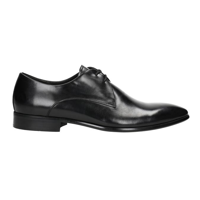 Czarne skórzane półbuty bata, czarny, 826-6648 - 26