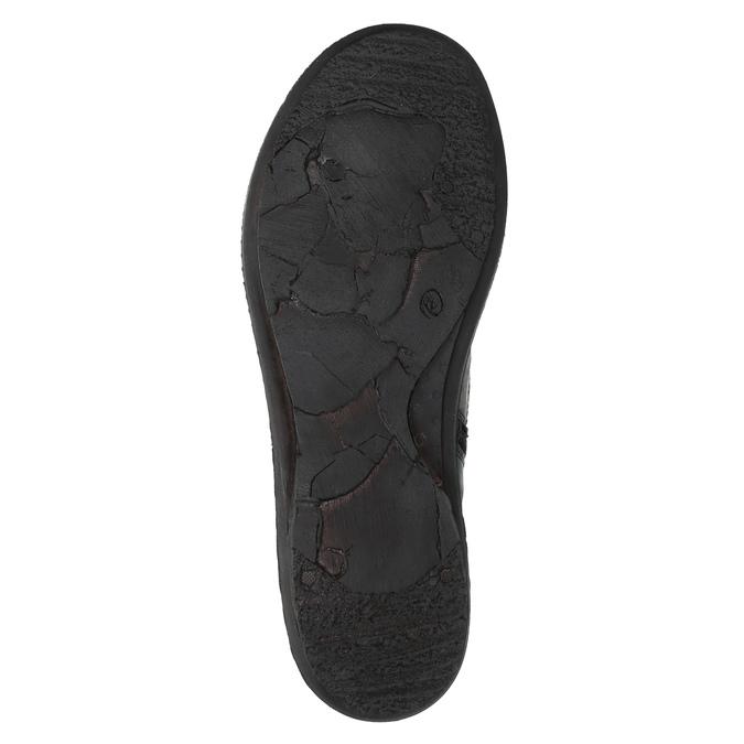 Damskie skórzane buty sportowe bata, czarny, 526-6601 - 26