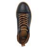 Skórzane trampki męskie za kostkę bata, niebieski, 846-9606 - 19