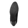 Skórzane botki zdeseniem skóry wężowej bata, czarny, 796-6606 - 26