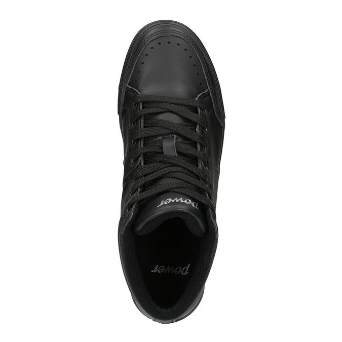 Czarne trampki za kostkę power, czarny, 501-6400 - 19