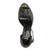 Sandały na szpilce, ze złotymi refleksami bata, czarny, 729-8630 - 19