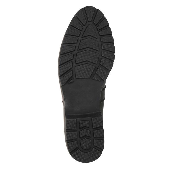 Lakierowane botki typu Chelsea na grubej podeszwie bata, czarny, 591-6603 - 19
