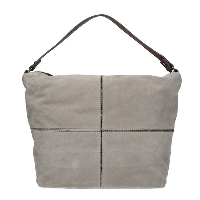 Skórzana torba wstylu hobo bata, szary, 963-2130 - 26