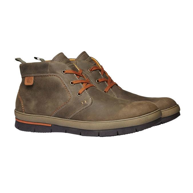 Skórzane buty sportowe weinbrenner, brązowy, 894-2209 - 26