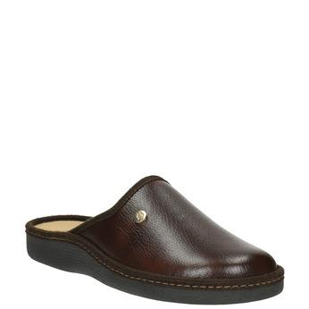 Kapcie męskie zpełnymi noskami bata, brązowy, 871-4304 - 13