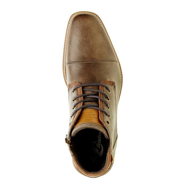 Męskie skórzane botki bata, brązowy, 894-2620 - 19